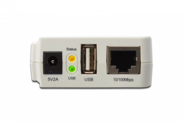 Digitus Serwer druku USB / WiFi / RJ45 - udostepnianie drukarki w sieci