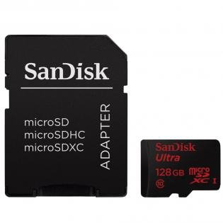SanDisk Ultra microSDXC 128GB 80MB/s Adapt. SDSQUNC-128G-GN6MA