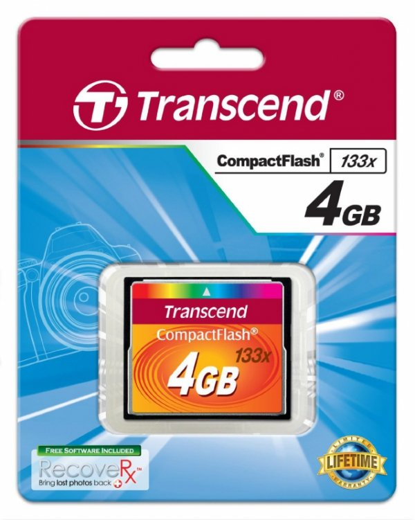 Transcend Compact Flash 4GB karta MLC 133X
