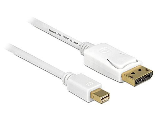 DeLOCK Adapter - miniDP - DisplayPort - 2 metry - biały