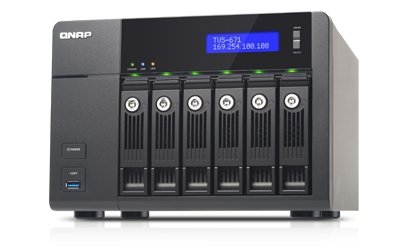 QNAP Turbo Station TVS-671-i3-4G [0/6 HDD/SSD, 4x Gigabit-Lan, 5x USB, 1x HDMI]