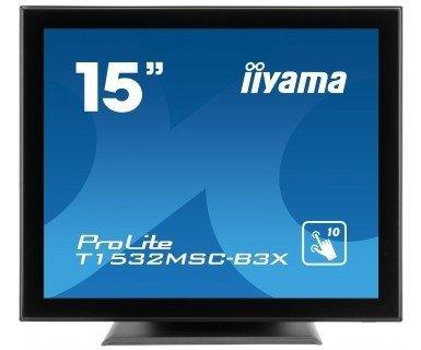 iiyama ProLite T1532MSC, LCD-Monitor czarny, DVI, VGA, Touchscreen