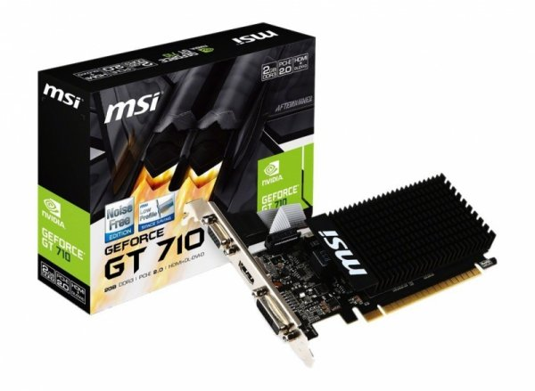 MSI GeForce GT 710 2GD3H LP, HDMI, DVI-D, VGA