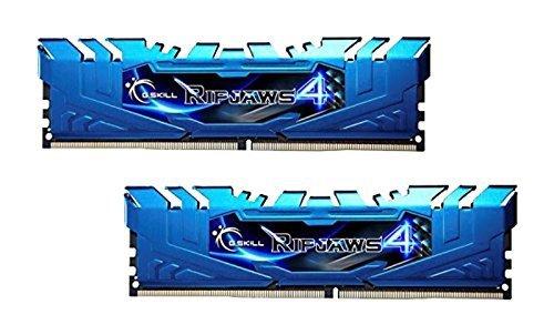 G.Skill 8GB DDR4-3000 Kit, niebieski F4-3000C15D-8GRBB, Ripjaws 4