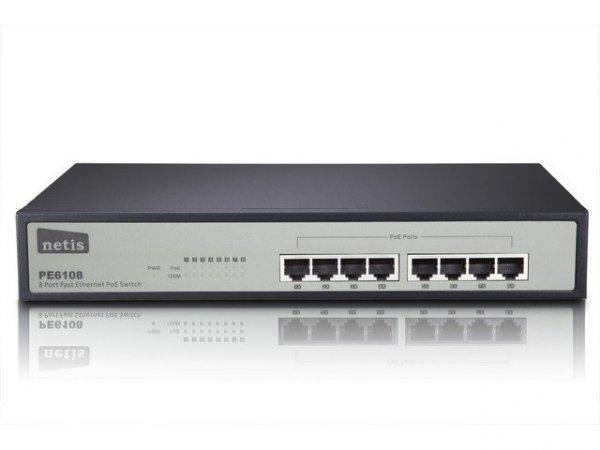 InterTech PE6108    8 Port Fast Ethernet PoE