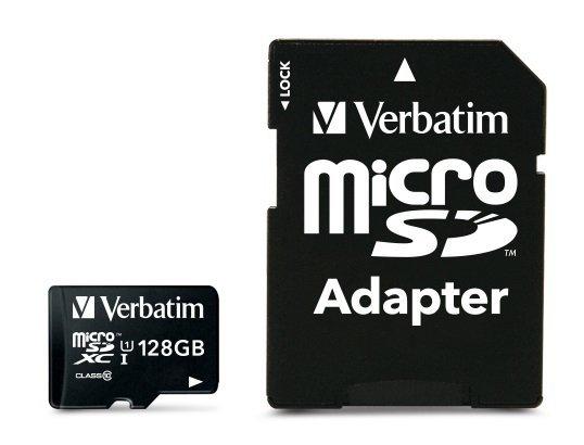 Verbatim MicroSDXC 128GB Class 10 incl Adapter