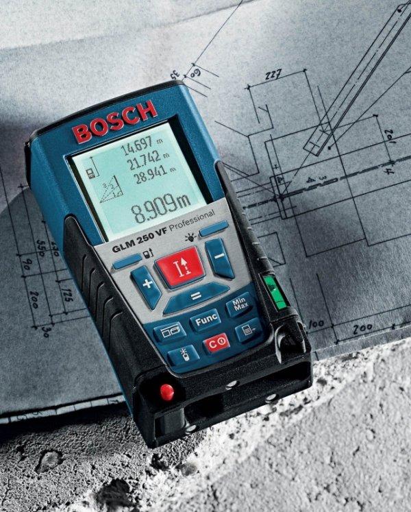 Bosch Dalmierz laserowy GLM 250 VF blue