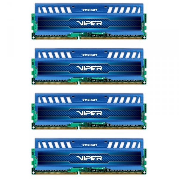 Patriot 32 GB DDR3-2133 Quad-Kit, PV332G213C1QKBL, Viper3 Sapphire Blue