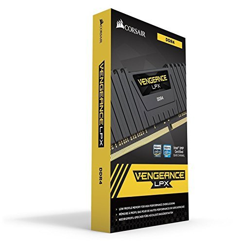 Corsair  32 GB DDR4-2400 Quad-Kit, czarny, CMK32GX4M4A2400C16, Vengeance LPX