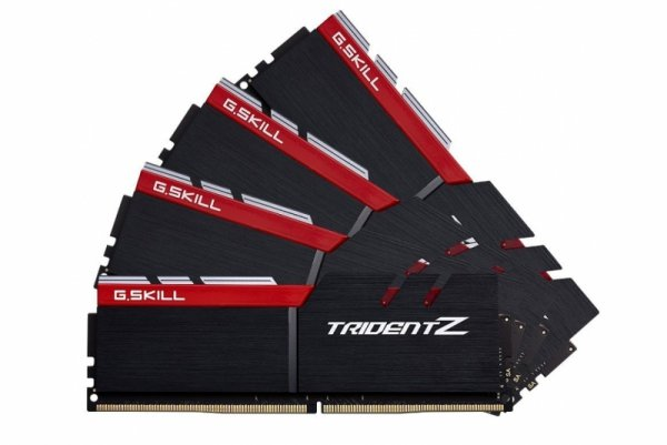 G.Skill 64 GB DDR4-3400 Quad-Kit, F4-3400C16Q-64GTZ, Trident Z