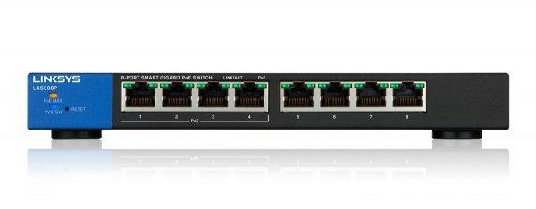 Linksys LGS308P 8-Port Smart POE+ Gigabit-Switch