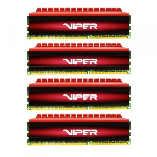 Patriot 16GB DDR4-3000 Quad-Kit, PV416G300C6QK, Viper 4