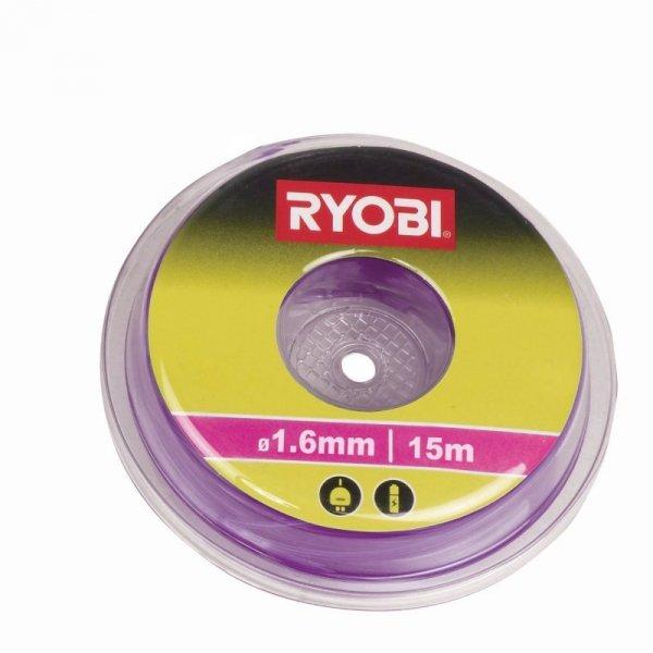 Ryobi Liania do cięcia do podkaszarek RAC101 purple - 15m ,1,6mm gwint