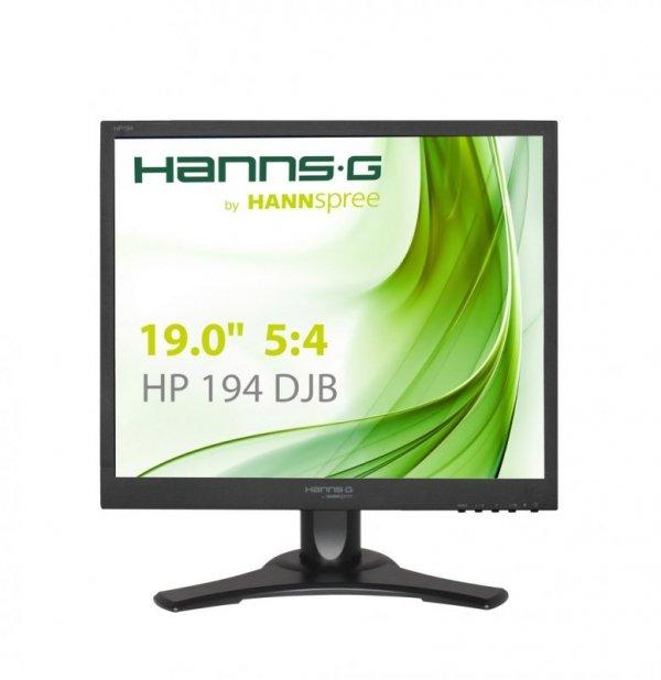 HannsG HP194DJB, czarny, DVI (HDCP), VGA, Audio, Pivot