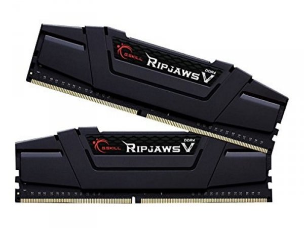 G.Skill 16 GB DDR4-3200 Kit, czarny, F4-3200C15D-16GVK, Ripjaws V