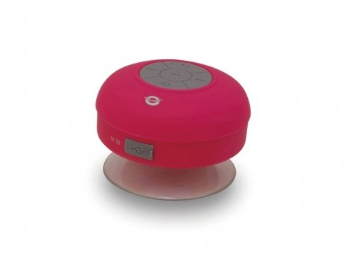 Conceptronic Wireless waterproof Bluetooth Suction Speaker pink