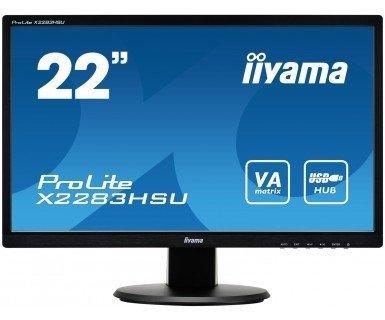 iiyama ProLite X2283HSU-B1DP, czarny, DVI, VGA, USB 2.0-Hub, Audio