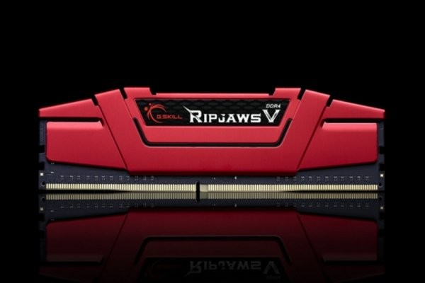G.Skill 16 GB DDR4-3200 Kit, czerwony F4-3200C15D-16GVR, Ripjaws V