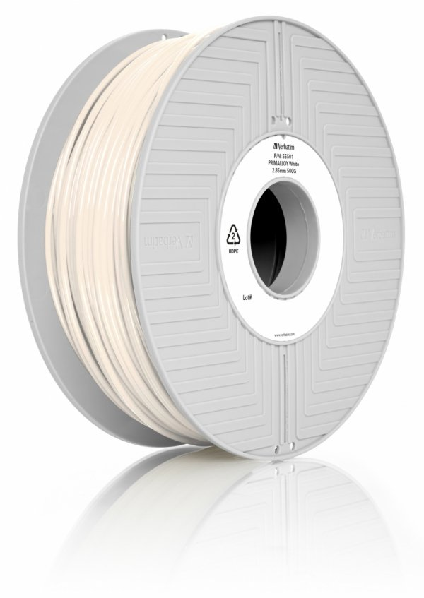Verbatim 3D Printer Filament Primalloy 2,85 mm 500 g biały