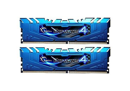 G.Skill 8GB DDR4-3200 Kit, niebieski F4-3200C16D-8GRB, Ripjaws 4