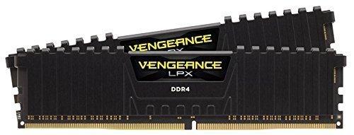 Corsair  16GB DDR4-2400 Kit, czarny, CMK16GX4M2A2400C16, Vengeance LPX