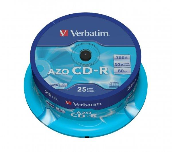 Verbatim CD-R 700 MB 52x, 25 Szt.