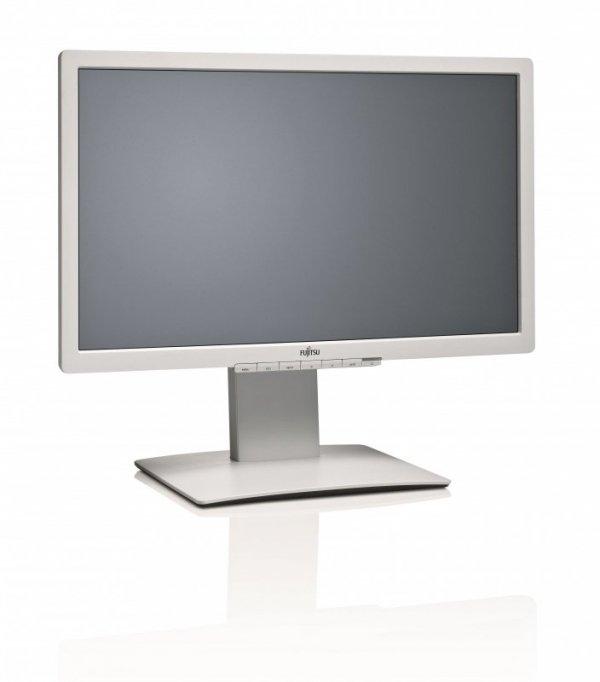 Fujitsu B23T-7 LED, jasnyszary, DVI, DisplayPort, VGA, USB, Audio, Pivot