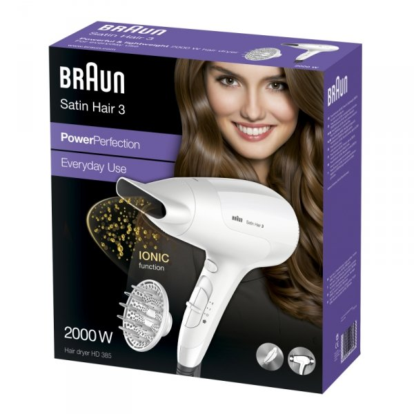 Braun Satin Hair 3 HD 385 Power Perfection + Diffusor