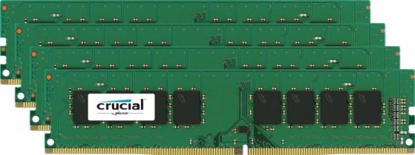 Crucial 32 GB DDR4-2400 Quad-Kit, CT4K8G4DFS824A
