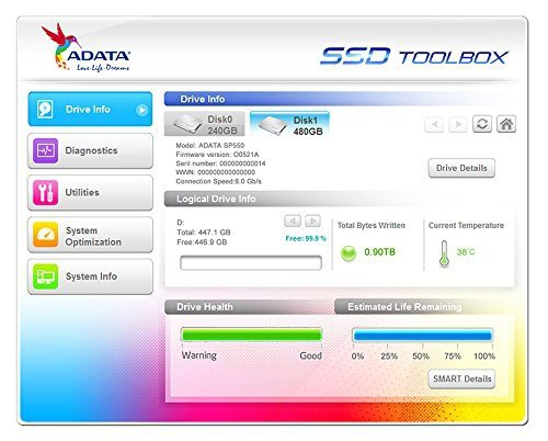 """ADATA ASP550SS3-120GM-C 120 GB - SSD - SATA - 2.5"""""""