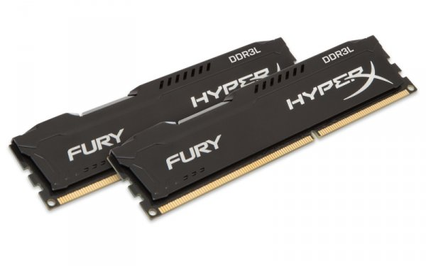 Kingston HyperX 16GB DDR3L-1600 Kit, HX316LC10FBK2/16, Fury Black