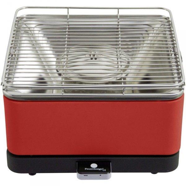 Feuerdesign Teide stołowy grill węglowy czerwony