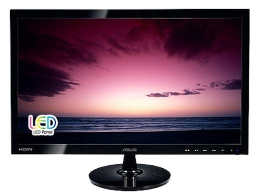 ASUS VS248HR, czarny, HDMI, DVI, VGA, Audio