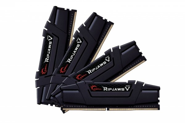 G.Skill 64 GB DDR4-3200 Quad-Kit, czarny, F4-3200C15Q-64GVK, Ripjaws V