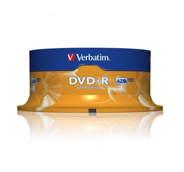 Verbatim DVD-R 4,7 GB 16x, 25 szt.