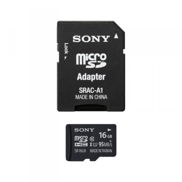 Sony microSDHC Card 16GB High Speed Class 10 incl Adapter