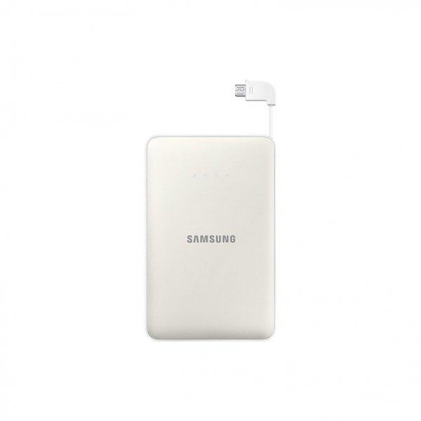 Samsung Power Bank 11.300 mAh 2A Micro-USB-Kabel/USB-Port biały