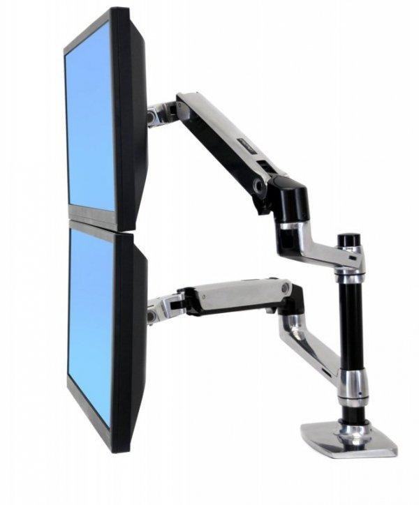 Ergotron LX Mocowanie na podwojny ekran ALU