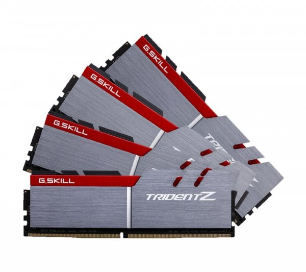 G.Skill 64 GB DDR4-3200 Quad-Kit, F4-3200C15Q-64GTZ, Trident Z