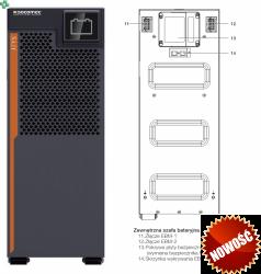ITY3-EX100B SOCOMEC zewnętrzny moduł bateryjny do UPS ITYS 3 6-8-10kVA/6-8-10kW, 192V, 2 łańcuchy baterii wewnętrznych.