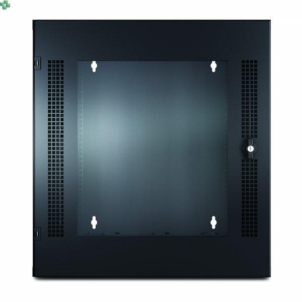 AR100 Szafa rack NetShelter WX 13U z pionową szyną montażową z otworami gwintowanymi, przednie drzwi szklane, czarna (631mm głębokości)