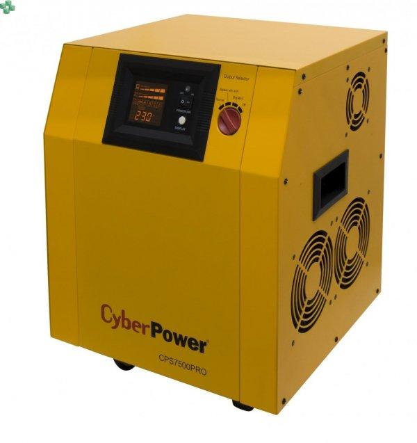 CPS7500PRO Zasilacz UPS CyberPower 7500VA/5250W, długie czasy podtrzymania, sinus na wyjściu, opcja karty sieciowej. Baterie zewnętrzne do kupienia osobno.