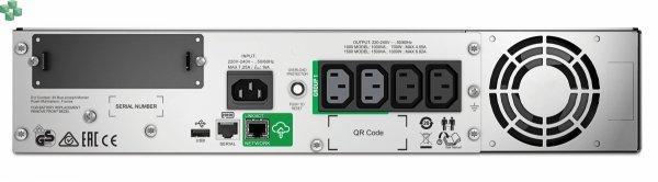 SMT1000RMI2UC APC Smart-UPS 1000 VA LCD RM do montażu w szafie rack, 2U, 230 V, z usługą SmartConnect