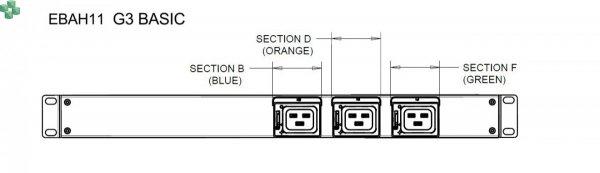 EBAH11 Listwa PDU EATON ePDU BA 1U (309 32A 3P) C19x6
