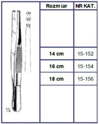 Penseta Chirurgiczna 2/3 Ząbki - Różne Rodzaje