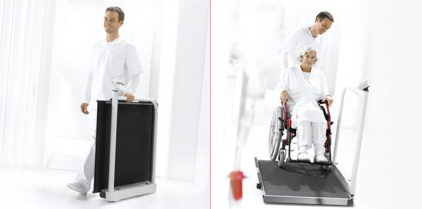 Waga do Wózków Inwalidzkich z Poręczą i Rolkami Transportowymi Seca 677 (klasy III)