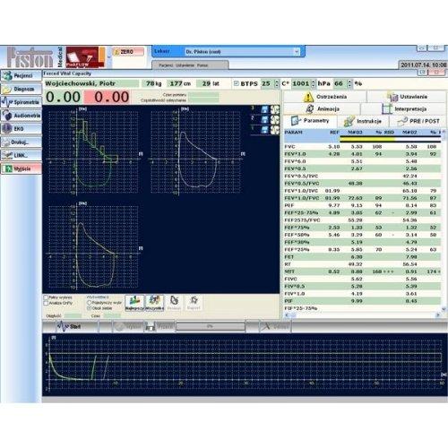Spirometr Bezturbinowy PDD z Portem USB i z Oprogramowaniem