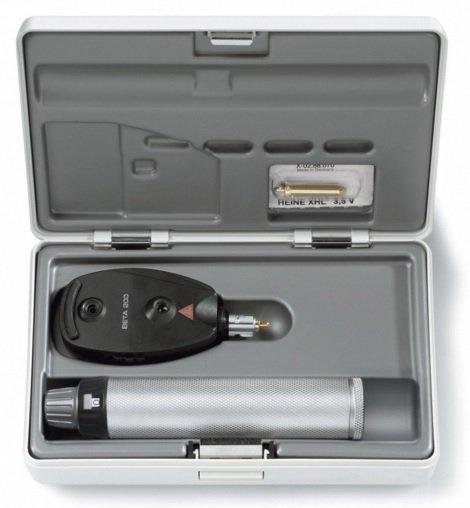 Oftalmoskop Heine Seria Beta 200 z Twardym Etui - Różne Rodzaje