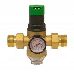 Reduktor Ciśnienia Wody 1'' z Filtrem + Manometr