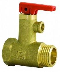 Zawór bezpieczeństwa do bojlera , do elektrycznych podgrzewaczy wody AF4, 6,7 bar, 1/2 GZ x 1/2 GW , Nr 42 212